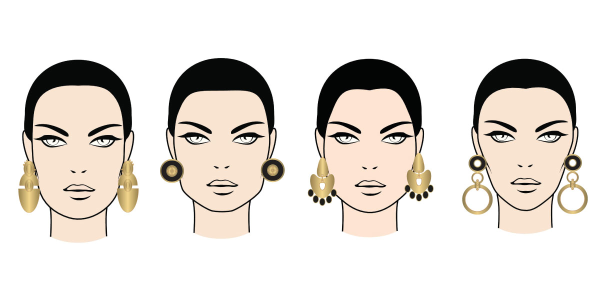 Types of earrings according to your type of face